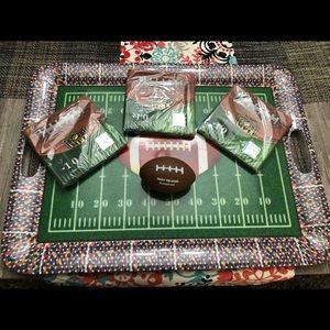 Football serving tray / platter for parties NEW